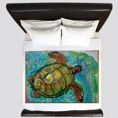 Sea Turtle Wildlife Art Postcards Package Of 8 By