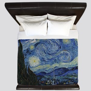 starry trek night King Duvet
