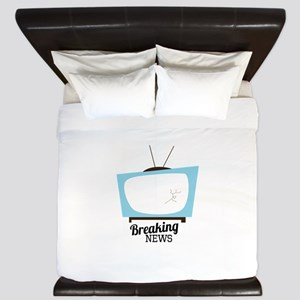 Breaking News King Duvet