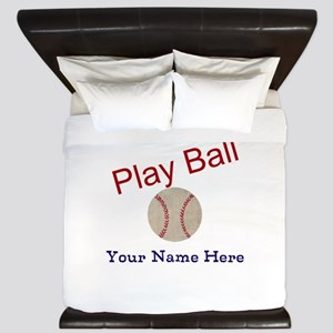 Personalize it! Play Ball Baseball King Duvet