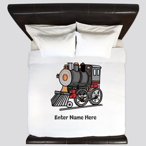 Personalized Train Engine King Duvet