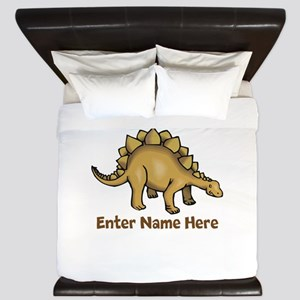 Personalized Stegosaurus King Duvet