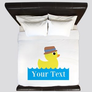 Personalizable Rubber Duck King Duvet