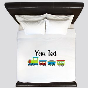 Personalizable Choo Choo Train King Duvet