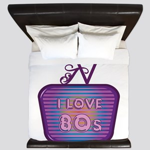 I Love 80's TV King Duvet