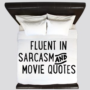 Fluent in Sarcasm and Movie Quotes King Duvet