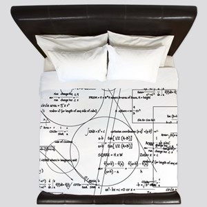 Math Bits King Duvet