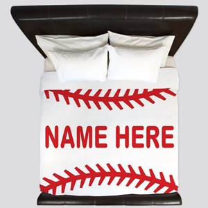Baseball Laces Personalzied Name King Duvet