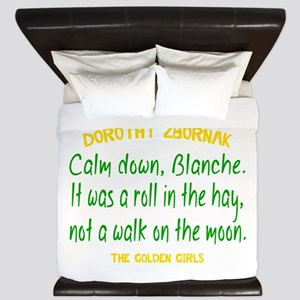 Dorothy Quote Roll in the Hay King Duvet