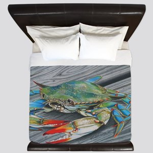 Blue Crab King Duvet