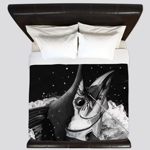 Blue Marlin Bw King Duvet