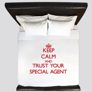 Keep Calm and trust your Special Agent King Duvet