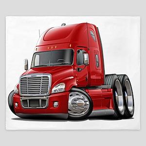 Freightliner Cascadia Red Truck King Duvet