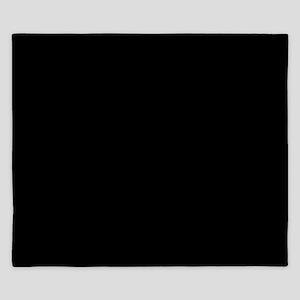 solid color black 000000 old king duvet cover King