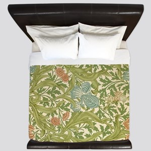 Willliam Morris Iris Pattern King Duvet