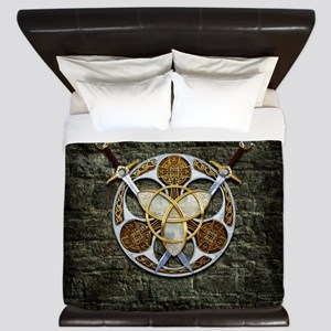 Celtic Shield and Swords King Duvet