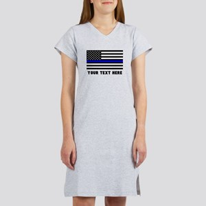 Thin Blue Line Flag Women's Nightshirt