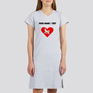 Custom Alaskan Malamute Heart Women's Nightshirt