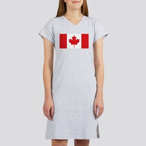 Canada National Flag Women's Nightshirt