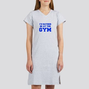 ID-RATHER-BE-AT-THE-GYM-FRESH-BLUE Women's Nightsh
