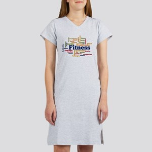Fitness Word Cloud Women's Nightshirt