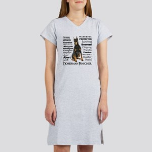 Doberman Traits Women's Nightshirt