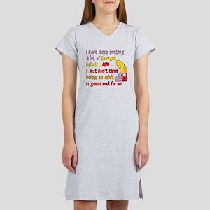 f77ca8e1a7 Funny Sayings Women's Nightshirts - CafePress