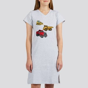 Construction Site Vehicles. Women's Nightshirt