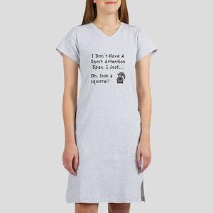 Short Attention Women's Nightshirt