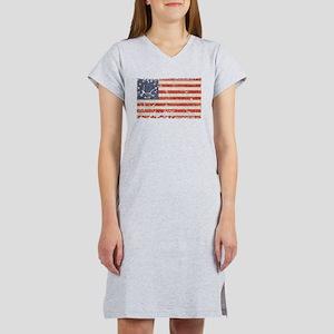 13 Colonies US Flag Distresse Women's Nightshirt