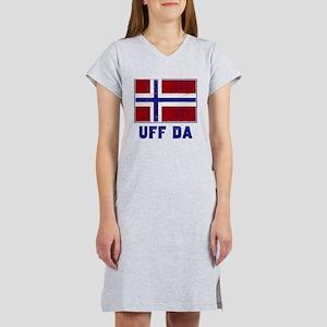 Uff Da Norway Flag Women's Nightshirt