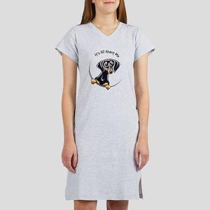 Black Tan Dachshund Lover Women's Nightshirt