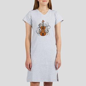 Violin Swirls Women's Nightshirt