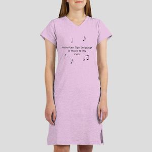 Deaf Music Women's Nightshirt
