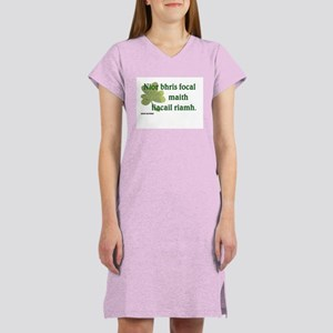 Paddy says...A good word Women's Nightshirt