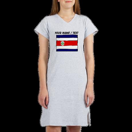 Custom Costa Rica Flag Women's Nightshirt