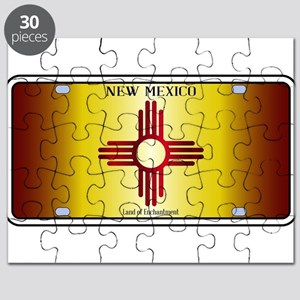 New Mexico Flag License Plate Puzzle