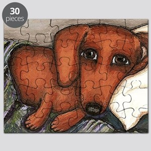 Dachshund on the pillow Puzzle