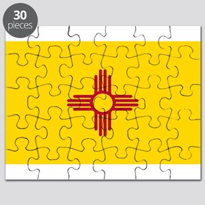New Mexico Flag Yellow Puzzle