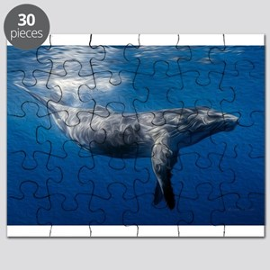 Humpback Whale Under Ocean Surface Puzzle