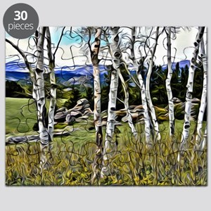 Aspens and Mountains Puzzle