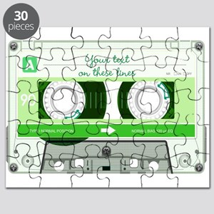 Cassette Tape - Green Puzzle