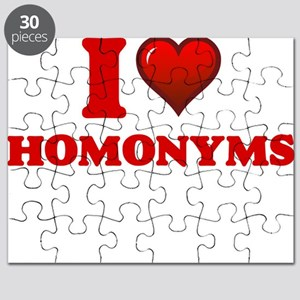 I love Homonyms Puzzle