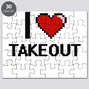 I love Takeout Digital Design Puzzle
