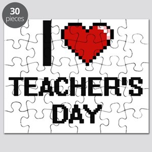 I love Teacher'S Day Digital Design Puzzle