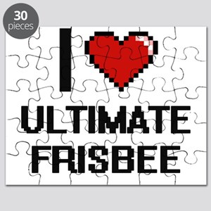 I Love Ultimate Frisbee Digital Design Puzzle