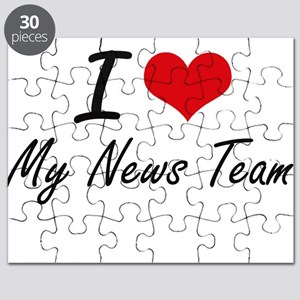 I Love My News Team Puzzle