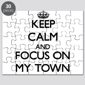 Keep Calm and focus on My Town Puzzle