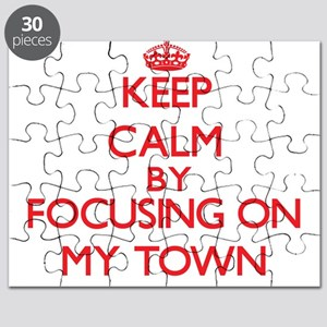 Keep Calm by focusing on My Town Puzzle