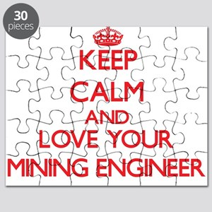 Keep Calm and love your Mining Engineer Puzzle